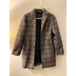 Zara Boys Plaid Long Coat